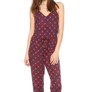 Free People Sunset Romper Jumpsuit Sz S Small Red